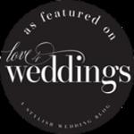 love for weddings badge