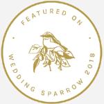 badge of wedding sparrow